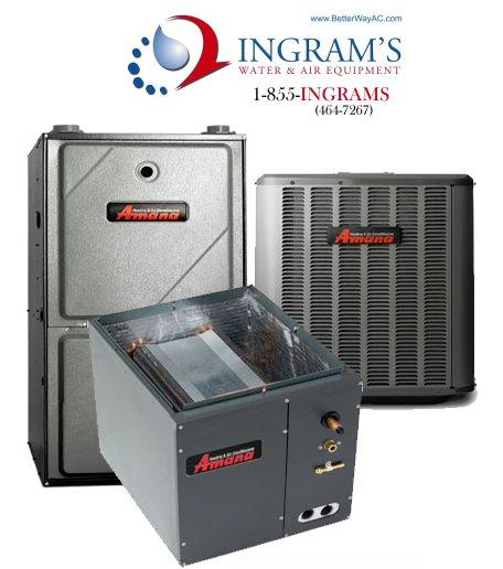 Amana 1.5 ton 13 Seer Split System AC With Gas Furnace Package. 95% AFUE. Upflow/Downflow Applications
