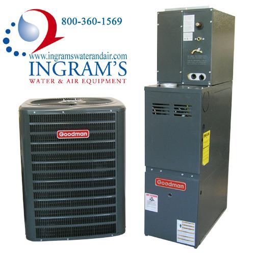 Goodman R410A 13 SEER Complete Split System AC & Gas 1.5 Ton GSX130181, CAPF1824A6, GMH80453AN