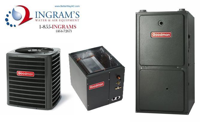 Goodman R410A 13 SEER Complete Split System AC & Gas 1.5 Ton GSX130181, CAPF1824B6, GMH950703BX