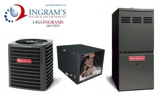 Goodman R410A 13 SEER Complete Split System AC & Gas 1.5 Ton GSX130181, CHPF2430B6, GMH950703BX