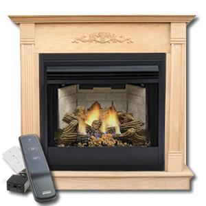 "Complete Monessen Charred Timber 32"" Fireplace Package"