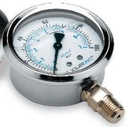 "Pressure Gauge 0-100 PSI with 1/4"" lower mount"