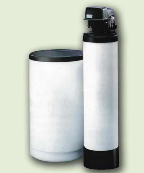 "Water Softener 15k gr.255/440i Time Clk.Softener w/Brn.Safety, 7x44""Min.Tnk & 18x33in. Brn Tnk"