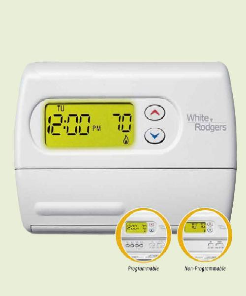 Thermostat 1F86-244, 1 Heat / 1 Cool, Non-Programmable