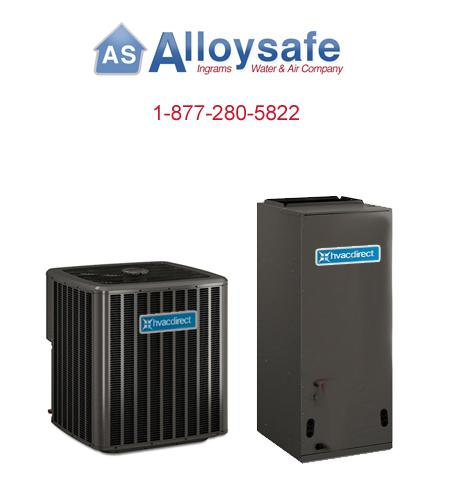 Energy Efficient Complete Hvac Direct Split System Heat Pump Package 3.0 Ton, 18 SEER 2 Stage Compressor - Package 18/2D